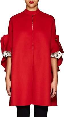Valentino Women's Ruffle-Trimmed Wool Melton Cape