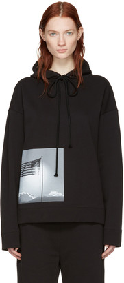 Raf Simons Black Robert Mapplethorpe Edition American Flag Hoodie $560 thestylecure.com