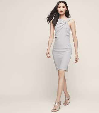 Reiss Aliya Neckline-Detail Cocktail Dress