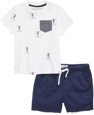 Sovereign Code Travel Alaska Pocket T-Shirt & Shorts Set