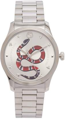 Gucci Timeless stainless steel snake face watch