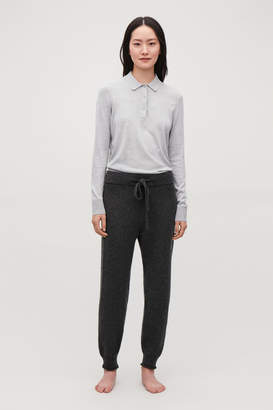 Cos CASHMERE DRAWSTRING TROUSERS