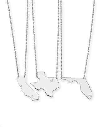 State pendants shopstyle moon and lola personalized state pendant necklace silver alabama mississippi aloadofball Gallery