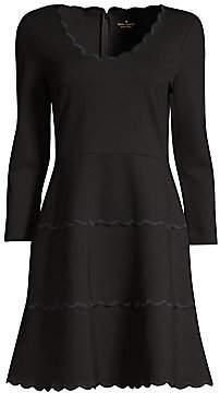 Kate Spade Women's Broome Street Scallop Ponte Dress