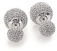 Adriana Orsini Women's Decadence Pavé Crystal Ball Two-Sided Earrings