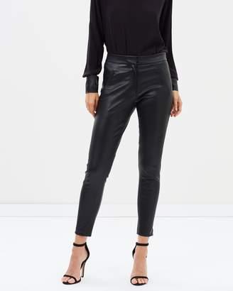 Morgan Stretch Leather Pants