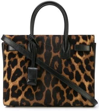 Saint Laurent leopard print tote bag