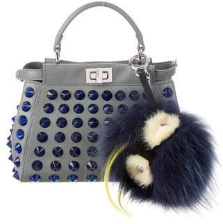 Fendi Spiked Mini Peekaboo Satchel