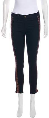 Rag & Bone Embroidered Mid-Rise Skinny Jeans