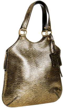 Yves Saint Laurent gold textured leather 'Tribute' tote