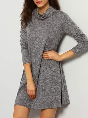Shein Cowl Neckline T-shirt Dress