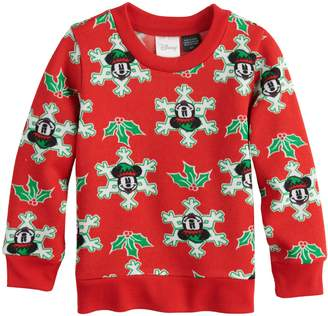Disney Disney's Mickey Mouse Toddler Boy Snowflake Pullover Sweater