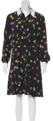 The Kooples Floral Print Silk Dress