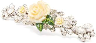 Dolce & Gabbana Rose and crystal-embellished hair slide