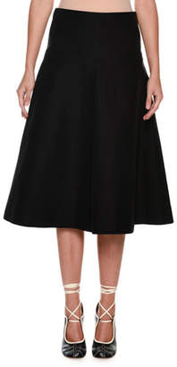 Marni Mid-Calf Circle Cotton Woven Skirt