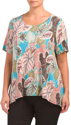 Plus Tropical Fronds Printed Tee