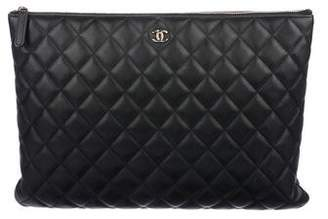 Chanel Large Quilted O-Case