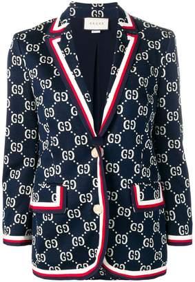 Gucci GG Supreme knitted blazer