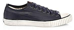 John Varvatos Men's Coated Linen Low-Top Sneakers