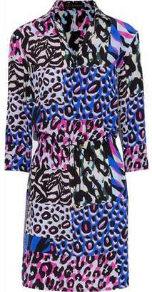 Versace Patchwork-Effect Printed Silk Mini Dress