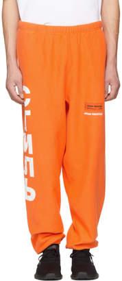 Heron Preston Orange Style Tracksuit Sweatpants