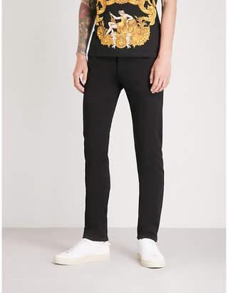 Versace Leopard-print pockets regular-fit straight jeans