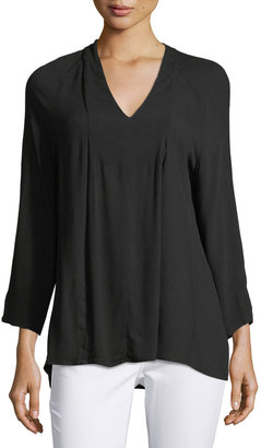 Bobeau Chris 3/4-Sleeve Pintucked Blouse $45 thestylecure.com