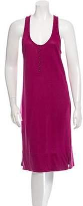 Sonia Rykiel Linen Sleeveless Racerback Dress w/ Tags Magenta Linen Sleeveless Racerback Dress w/ Tags