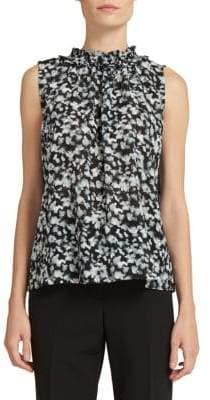 Donna Karan Printed Sleeveless Top