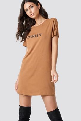 NA-KD Na Kd Darlin' T-shirt Dress Tan
