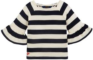 Ralph Lauren Stripe Ruffle Top