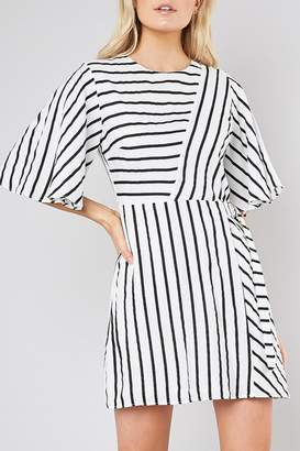 Do & Be Striped Belted Shift-Dress
