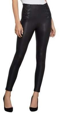 BCBGMAXAZRIA Lace-Up Faux Leather Leggings