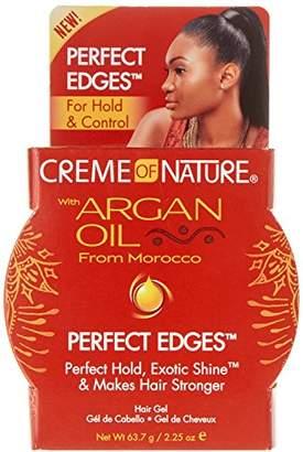 Crème of Nature Argan Oil Perfect Edges Control 2.25 Ounce Jar (66ml) (6 Pack)