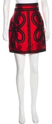 Dolce & Gabbana Silk Mini Skirt w/ Tags