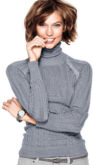 Victoria's Secret Feather Sweaters Turtleneck Sweater