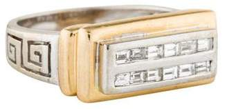Ring 14K Diamond Greek Key