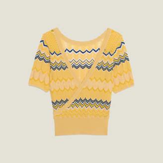 Sandro Wrapover knit top