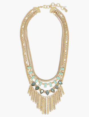 Lucky Brand SET STONE CHAIN STATEMENT NECKLACE