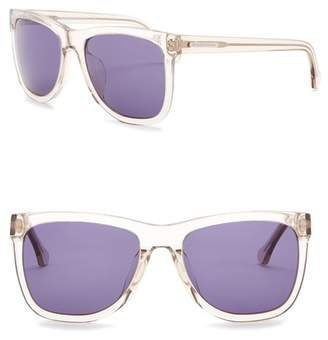 Balenciaga 56mm Acetate Square Sunglasses