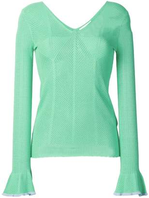 8350d1553e2b1 See by Chloe embroidered long-sleeve blouse
