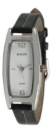 Avalon Women 'sシルバートーンブラックストラップ腕時計# 3305 – 2
