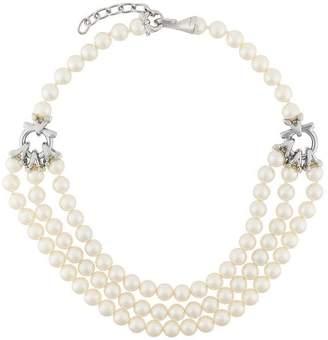 Salvatore Ferragamo three-row pearl necklace