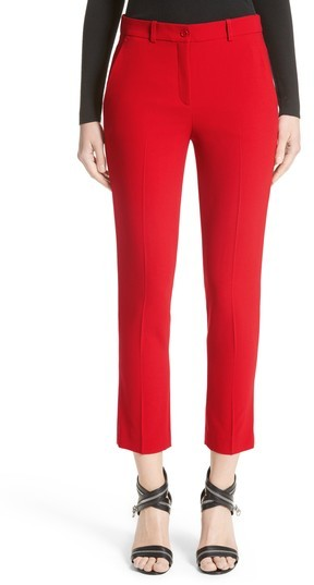 Women's Michael Kors 'Samantha' Stretch Wool Straight Leg Pants