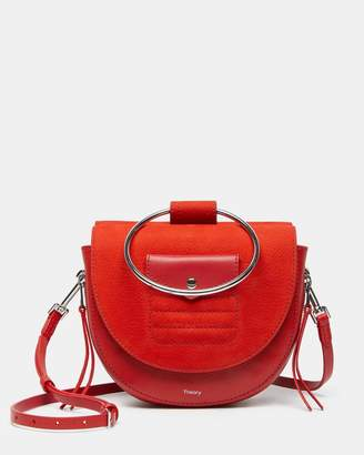 Theory Whitney Bag with Zip in Nubuck Leather