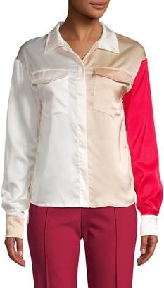Avantlook Colorblock Spread Collar Shirt