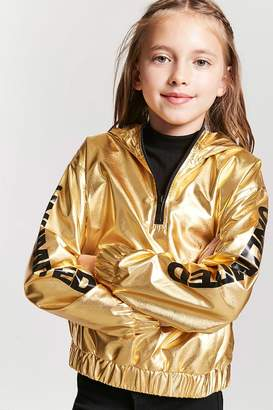 Forever 21 Girls Metallic Unlimited Anorak (Kids)
