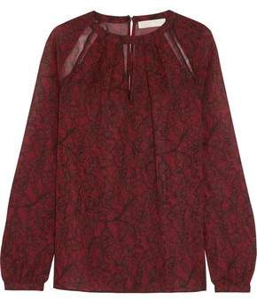 MICHAEL Michael Kors Cutout Corded Lace Blouse