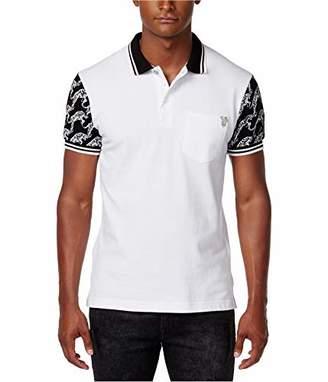 Versace Men's Tiger Sleeve Polo