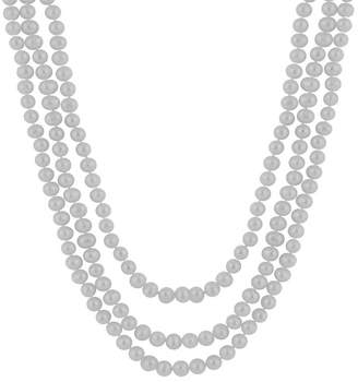 Splendid Pearls Endless Gray 8-9mm Freshwater Pearl Necklace